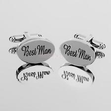 Fashion Gifts Mens Shirt Cufflinks Oval Silver Cuff Links Accessories