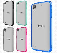 For HTC Desire 530 TPU Gel GUMMY Protector Hard Skin Case Cover +Screen Guard