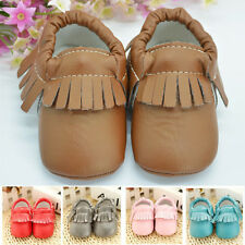 Soft 0-18M Baby Sole Leather Shoes Newborn Girl Toddler Crib Moccasin Prewalker