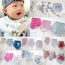 Cotton Baby Boy Girls Bandana Bibs Saliva Towel Dribble Triangle Head Scarf 3pcs