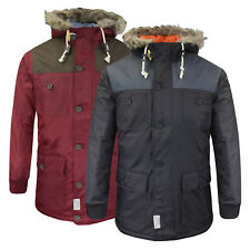 Mens Winter Coat dStruct 'Vondel' Fur Hood Parka Warm Jacket Sizes S - XL