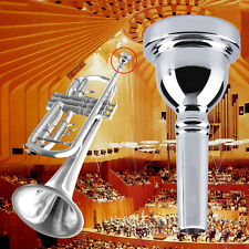 New Trumpet Mouthpiece 5C Size Silver Nickel-plated Musical Instrument New @F