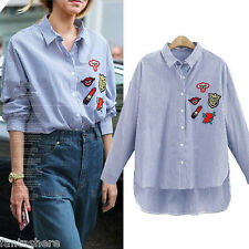 New Womens Casual Tops Loose T-Shirt Fashion Long Sleeve Blouse Plus Size XL-4XL