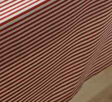 Elegant Red White Strips Dinning Coffee Table Cotton Linen Cloth Cover T
