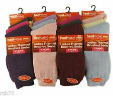 12 Pairs of Ladies Thermal Socks, Warm Thick Winter socks By Heatwave , Size 4-7