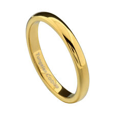 3mm Gold Plated Tungsten Jewelry Women's  Wedding Band Ring sz 5-10