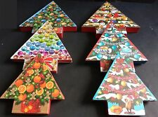 CHRISTMAS HOLIDAY TREE-SHAPED GIFT BOXES Decoupage Nesting, SELECT: Size & Theme