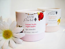 New - Choose from Brightening or Super Fruits Night Balm from 100% Pure