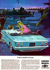 1964 Chevrolet Corvair Monza Convertible - Promotional Advertising Poster