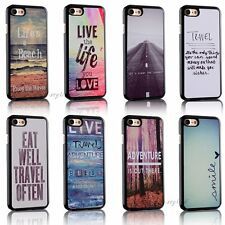 Love Travel Life Quotes Back Hard Cover Skin Case For Apple iPhone 7 / 7 Plus