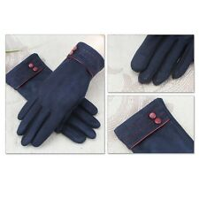 Soft Cold Weather Women's New Screentouch Suede Gloves Outdoor Driving Mittens