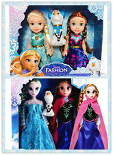 3 PCS hotsale-Playset-Frozen Princess Elsa&Anna&Olaf Doll Figures Birthday Gift=