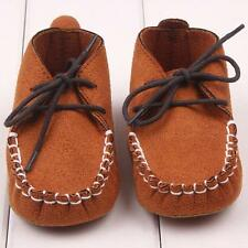 Infant Baby Boy Girls PU Leather Crib Shoes Soft Sole Shoes Party Shoes 0-3 9-12