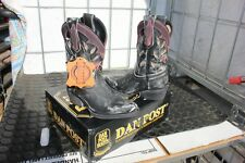 40-24 New child 10.5M Dan Post gray distress inlay western boots was 89.99