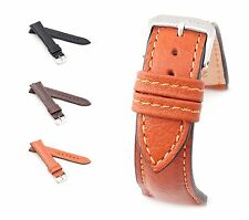 """RIOS1931 Buffalo Leather Watch Band """"Colorado"""", 18-22 mm, 3 colors, new!"""