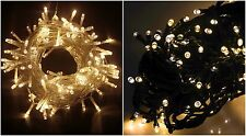 200 LED Warm White Fairy String Lights Christmas Indoor/Outdoor Lighting Xmas