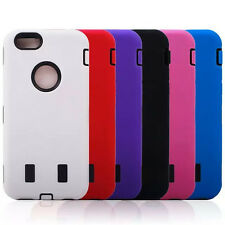 PC Robot Silicone Hybrid Combo Protective Cover Case For iPhone 6 6s 4.7 Inch