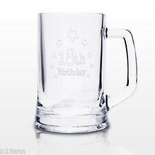 NEW PERSONALISED STERN TANKARD PICK FROM 18TH 21ST 30TH 40TH 50TH 60TH BIRTHDAYS