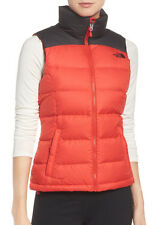 Women's North Face Red Black Nuptse 2 700 Down Vest Jacket New $149