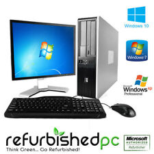 Fast HP Desktop Computer PC Deal Core 2 Duo Windows 7 / 10 / XP + LCD + KB + MS