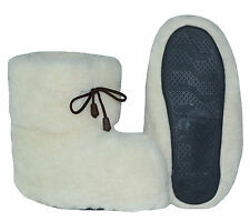 New 100% Genuine Natural Sheep Wool Slippers Home Shoes Soft Booties US SELLER