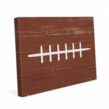 Click Wall Art 'Football' Graphic Art on Wrapped Canvas
