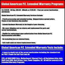 Global Extended Warranty Programs for Servers, Workstations, and their Parts