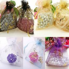 25 50 100 Butterfly Jewelry Candy Organza Pouch XMAS Wedding Favor Gift 7x9cm