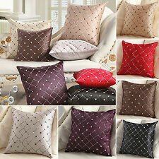 Checked Plaids Throw Pillow Case Square Cushion Cover Home Sofa Bed House Decor
