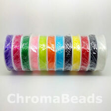 0.8mm Strong & Stretchy - CHOICE OF 12 COLOURS - crystal elastic thread, 7m roll