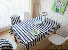Elegant Snow Blue Sky House Dinning Coffee Table Cotton Linen Cloth Cover T