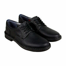 Clarks Kyros Plain Mens Black Black Leather Casual Dress Lace Up Oxfords Shoes