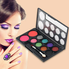 2Colors Professional Blusher+8Colors Eye Shadow Makeup Cosmetic Palette Tool L0