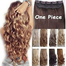 100% Real Thick Clip In Hair Extensions Long Human Synthetic Hair Extentions TH3