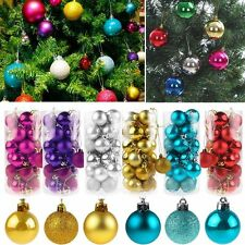 24Pcs Christmas Ball Hanger Baubles Xmas Tree Ornament Christmas Decoration Gift