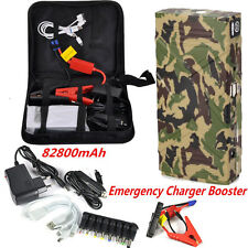 82800mAh 12V Car Jump Starter Emergency Charger Booster Power Bank Battery 2 USB