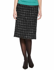 Marks and Spencer Ladies Checked A-Line Skirt with Wool Skirt