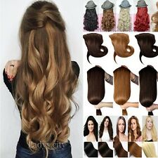 US Extra Remy 3/4 Full Head Clip In Hair Extensions Real Natural One Piece T6e