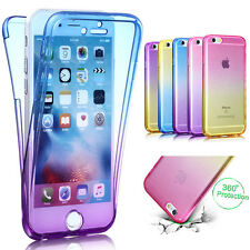Shockproof 360° Silicone Tpu Protective Clear Case Cover For iPhone 7 Plus 6s 5