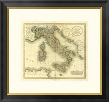 Global Gallery Italy, 1799 by John Cary Framed Graphic Art