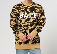 A BATHING APE 1ST CAMO LONG LENGTH CREWNECK Bape Men Sweatshirt New From Japan