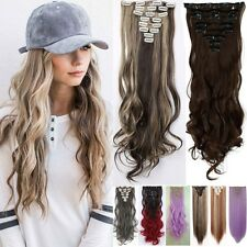 100% Real 8Pc New Thick Hair Clip In Hair Extensions Hair Extension As Human TU8