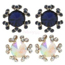 Charming Women Ladies Crystal Rhinestone Ear Studs Earrings Snowflake Eardrop