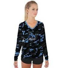Buffalo SUNY Bulls Womens Long Sleeve V-Neck Shirt Camo  Design