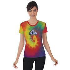 New Haven Chargers Womens Short Sleeve Shirt Tie Dye  Design