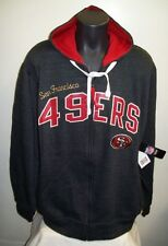 "San Francisco 49ERS NFL G-III ""Tackle"" Full Zip Hoody - Charcoal & Red 3X, 4X"
