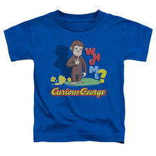 Curious George Who Me Little Boys Toddler Shirt ROYAL