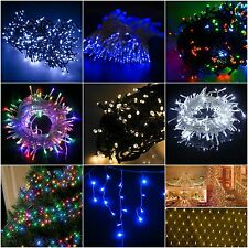 100/200/300/400 LED Christmas Fairy String Lights Indoor/Outdoor Icicle Xmas Net