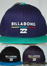 Billabong CAP Hat NEW mens SYSTEM FLAT BRIM BLACK INDIGO CAMO SNAP BACK 1 Size