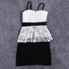 Fashion Sleeveless Slim Bandage Clubwear Lace Sexy Party Cocktail Mini Dress TY